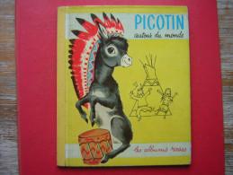 ENFANTINA / ENFANT PICOTIN AUTOUR DU MONDE IMAGES DE R SIMON   HACHETTE  LES ALBUMS ROSES 1959 - Hachette