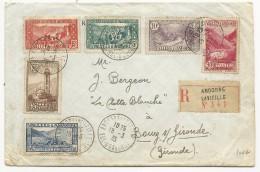 1935 - ANDORRE - ENVELOPPE RECOMMANDEE De ANDORRE LA VIEILLE Pour BOURG SUR GIRONDE