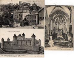 LAROQUEBROU - 3 CPA - L' Rglise - Le Chateau - La Fontaine Du Pont Restaurée (88396) - Frankrijk