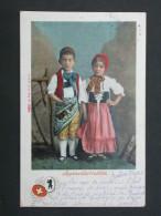 Ref5291 NIK CPA Couple D'enfants En Costume Folklorique - Appenzellertrachten - Suisse - Europe