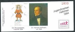 """Deutschland , Germany, Germania, Bund 1994; Booklet, Carnet, Libretto :  """"Struwwelpeter"""". Für Die Jugend. - Fiabe, Racconti Popolari & Leggende"""