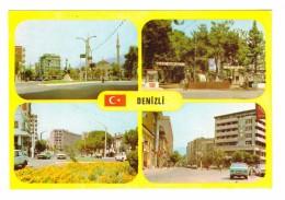 Turquie Denizli Carte 4 Vues  , Carte Non Voyagée - Turkije