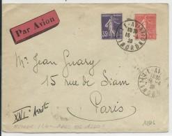 1928 - AVIATION - ENVELOPPE De LILLE AVIATION (NORD) Pour PARIS - Poste Aérienne