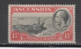 (SA0036) ASCENSION, 1934 (King George V, 1½ P., Red And Black). Mi # 24. Mint Hinged* Stamp - Ascension