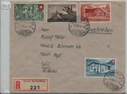1946 Recommandée R-Brief Zürich Oerlikon PP Satz B30-33 - Pro Patria
