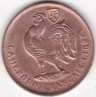 CAMEROUN FRANCAIS LIBRE .1 FRANC 1943. BRONZE - Cameroun