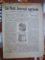 LE PETIT JOURNAL AGRICOLE 7/01/1906 AVEC PUB Cuvage Marc De Pommes à Cidre 16 PAGES - Livres, BD, Revues