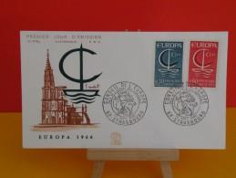 FDC- Europa CEPT 1966, Conseil De L'Europe - 67 Strasbourg - 24.9.1966- 1er Jour, Coté2 € - Europa-CEPT