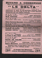 Rare Buvard Pour Le Cinema LE DELTA (paris) (PPP3296) - C