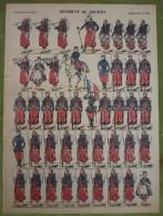 Imagerie D'Epinal - REGIMENT DE ZOUAVES - Planche D'uniforme Par Pellerin & Cie à Epinal - N°184 - Stampe & Incisioni