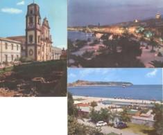 Lotto 3 Cartoline LIPARI: LA CATTEDRALE / MESSINA: NOTTURNO DEL LUNGOMARE / MILAZZO: LIDO AZZURRO - OTTIMO M75 - Messina