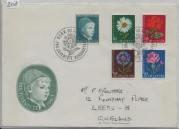 1963 Pro Juventute FDC Mit Adresse To England - Pro Juventute