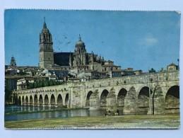 SALAMANCA - CATEDRAL Y PUENTE ROMANO - N 6 - ESPANA - Salamanca