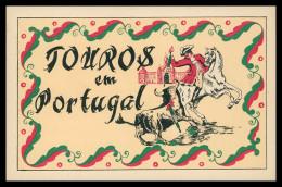 PORTUGAL-TAUROMAQUIA - Touros Em Portugal ( Desenho De Rudolfo Passaporte) Carte Postale - Altri