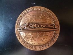 Médaille La CGT à 100 Ans 1895 - 1995 - France