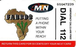 Afrique Du Sud,SOUTH AFRICA, Chip MTN, Fabcos, Map - Afrique Du Sud