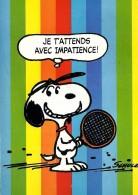 SNOOPY Playing TENIS - Peanuts Hallmark - Illust. Schulz - Ed. CÓMER Portugal - Illustrateurs & Photographes