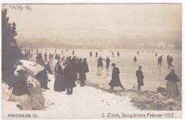 CP496 Switzerland Zurich Seegefrorne Februar 1907 3x 2c Posted Zurich 12 1907 - ZH Zurich