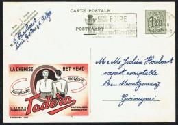 "CP Public. N° 1231  "" Chemise TADERA "" - Circulé - Circulated - Gelaufen - 1954. - Publibels"