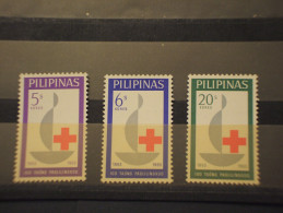 PILIPINAS - 1963 CROCE ROSSA 3 VALORI - NUOVI(++) - Filippine