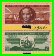 RÉPUBLICA DÓMINICANA ( AMERICA )  2 SELLOS  AÑO  1940 - Dominican Republic