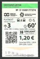 Slovakia, Bratislava, Bus Ticket, Used, - Bus