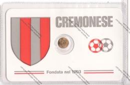 SCHEDA CON PICCOLA MEDAGLIA IN BAGNO D'ORO DELLA CREMONESE - - Apparel, Souvenirs & Other