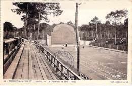SPORT Pelote Basque - Le Fronton Et Les Tennis De MOMIZAN LA FORET (40) CPSM Dentelée Sépia Format CPA - Landes - Cartes Postales