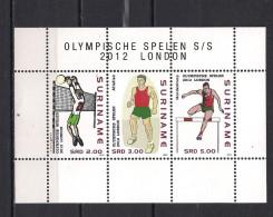Olympische Spelen  2012 , Suriname - Blok Postfris - Zomer 2012: Londen