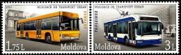 Moldova - 2013 - Urban Public Transport - Mint Stamp Set With Lacquering - Moldavie