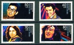Germany**LENNON-BEATLES-ELVIS PRESLEY-MORRISON-HOLLY-4vals--1988-MNH - Ongebruikt