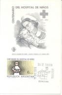 CENTENARIO  DEL HOSPITAL DE NIÑOS  SPECIAL COVER  CHILDREN HOSPITAL BUENOS AIRES CARD TARJETA