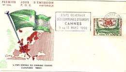 FRANCE  1960 EUROPA SYMPATHY ISSUE  FDC - European Ideas