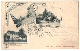 KÖLLIKEN: 3-Bild-AK Mit Brauerei, Dorfstrasse Und Gasthof Rössli 1900 - AG Argovie