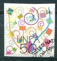 Nations Unies New-York 2001 - YT 864 (o) Sur Fragment - New-York - Siège De L'ONU