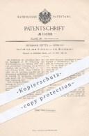 Original Patent - Hermann Spitta , Görlitz , 1899 , Entsäuern Der Rauchgase , Gase , Rauch , Schwefelsäure , Schornstein - Historische Dokumente