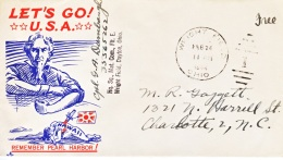 U.S. PATIOTIC COVER   ANTI JAPANESE  STABBED  IN THE  BACK.  REMEMBER PEARL HARBOR - United States