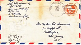 U.S. APO 709   GUADALCANAL  UNSECURED  AREA   1-43 COVER  /   LETTER - United States