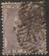 GREAT BRITAIN 27, Used, 4 Margins, Sound, SCV$ 100 (gb027-31, Pale Lilac......[16-ATR - 1840-1901 (Victoria)