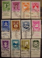 ISRAEL - IVERT 379/86 - SERIE BASICA USADOS - ESCUDOS DE CIUDADES ( H000 ) - Gebraucht (mit Tabs)