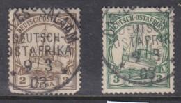 German East Africa, Hohenzollern Yatch, 1901, 1 Pesa, 3 Pesa, Used DAR ES SALAAM  9/3/03 C.d.s. - Colony: German East Africa