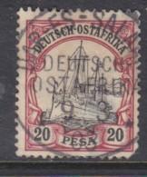 German East Africa, Hohenzollern Yatch, 1901, 20 Pesa, Used DAR ES SALAAM  9/3/03 C.d.s. - Colony: German East Africa