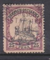 German East Africa, Hohenzollern Yatch, 1901, 25 Pesa, Used DAR ES SALAAM  9/3/03 C.d.s. - Colony: German East Africa