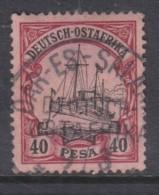 German East Africa, Hohenzollern Yatch, 1901, 40 Pesa, Used DAR ES SALAAM  9/3/03 C.d.s. - Colony: German East Africa