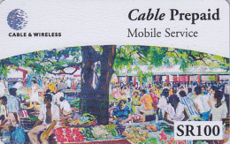 Télécarte Pour Téléphone Portable / Afrique  - SEYCHELLES 1 / Le Marché Market - Africa Mobile Phone Prepaid Phonecard