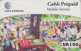 Télécarte Pour Téléphone Portable / Afrique  - SEYCHELLES 2 / Le Marché Market - Africa Mobile Phone Prepaid Phonecard - Seychelles
