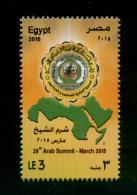 EGYPT / 2015 / 26TH ARAB SUMMIT - SHARM EL-SHEIKH / ARAB LEAGUE / MAP / MNH / VF - Nuovi