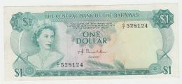 Bahamas 1 Dollar 1974 VF Crisp Banknote Pick 35a 35 A - Bahamas