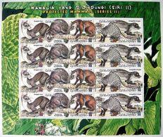 Malaysia 2000 S#808 Protected Mammals Full Sheet MNH Fauna - Malesia (1964-...)