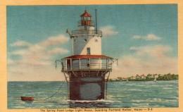 Postcard - Spring Point Lighthouse, Maine, USA. 25838 - Lighthouses